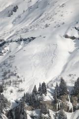 Avalanche en station de ski, Areches, France