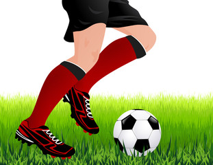 Football player legs