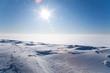 Leinwandbild Motiv Ice cold desert