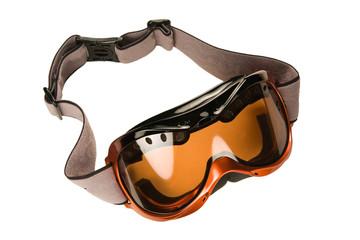 Ski goggles on white  background