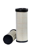 Brand new automotive oil filter cartridge on white background poster