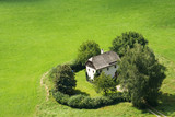 Cozy farmhouse surrounded by trees in Salzburg, Austria poster