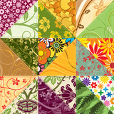 Flower Patchwork poster