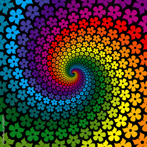 Obraz Colorful Flower Spiral Background