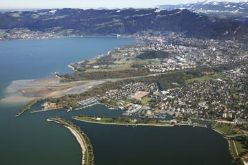Hard am Bodensee Luftaufnahme