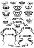 ribbon crown icon