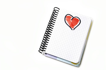 heart in a notebook