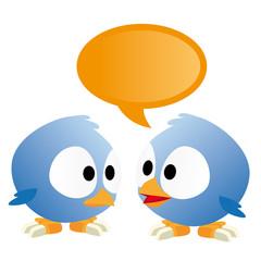 oiseaux qui discutent