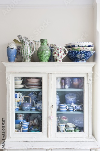 Storage cabinet with crockery