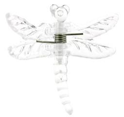pince à cheveux libellule transparente fond blanc