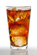 Cold glass of iced tea isolated on white with clipping path