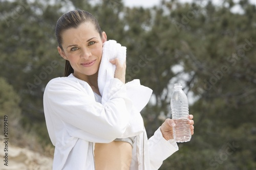 Mid adult woman after exercise