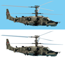 Combat helicopter vector design element