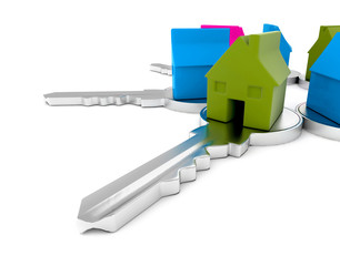 Houses on keys