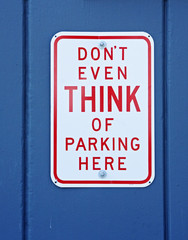 funny no parking sign