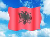 Bandeira da Albania poster