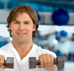 Man lifting free-weights