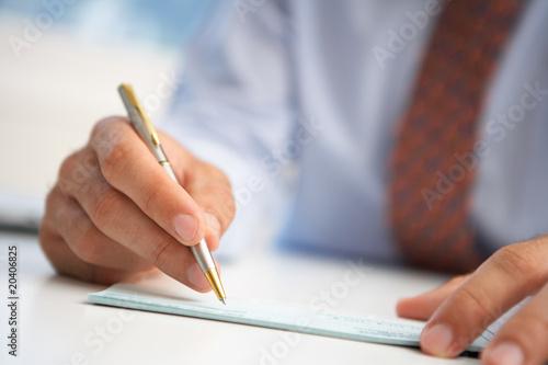 check signing