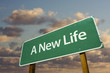 A New Life Green Road Sign