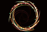 abstract neon spiral background. EPS10 transparency. poster