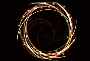 abstract neon spiral background. EPS10 transparency.