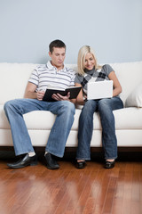 Couple Relaxing on Couch