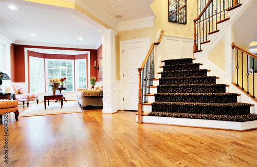 Entryway in Upscale Home