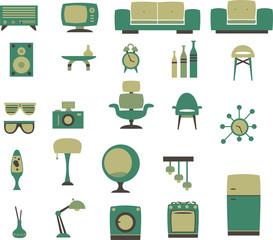 retro household set