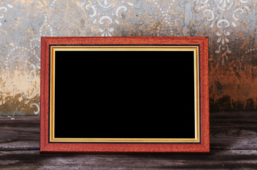 photo-frame on old table