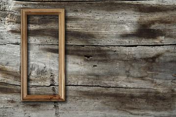 frame on wooden background