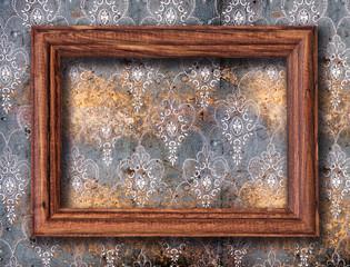 blank frame on wall