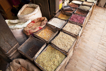 Nepalese Beans, Grains and Spices