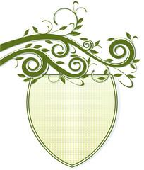 Wappen mit Pflanze