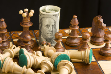 chess and dollar