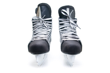 Man's hockey skates.