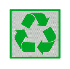 recycling square isolated