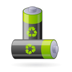 vector green batteries