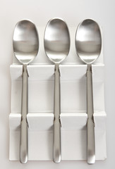 Set of new spoons