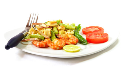 Dish of seafood