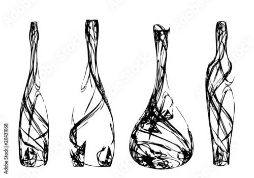 Set of the stylized bottles - 20431068