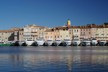 Harbour of Saint Tropez, France