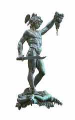 Perseus holding head of Medusa by Benvenuto Cellini