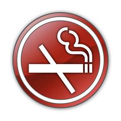 """Glossy Button """"No Smoking"""""""