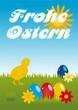 Frohe Ostern Schriftzug auf Bild 01