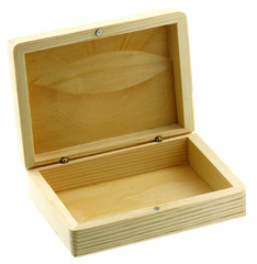 boîte bois fond blanc