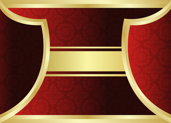 Gold red background