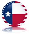 Texas Flag Round Web Button (Texan State USA Vector Reflection)