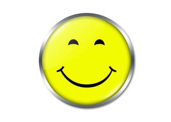 Smiley schmunzelnd