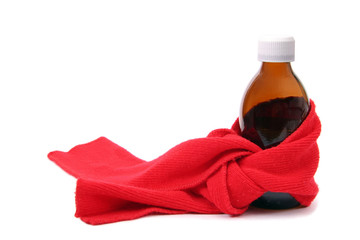 Medicine with red scarf