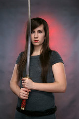 The girl with the Japanese sword